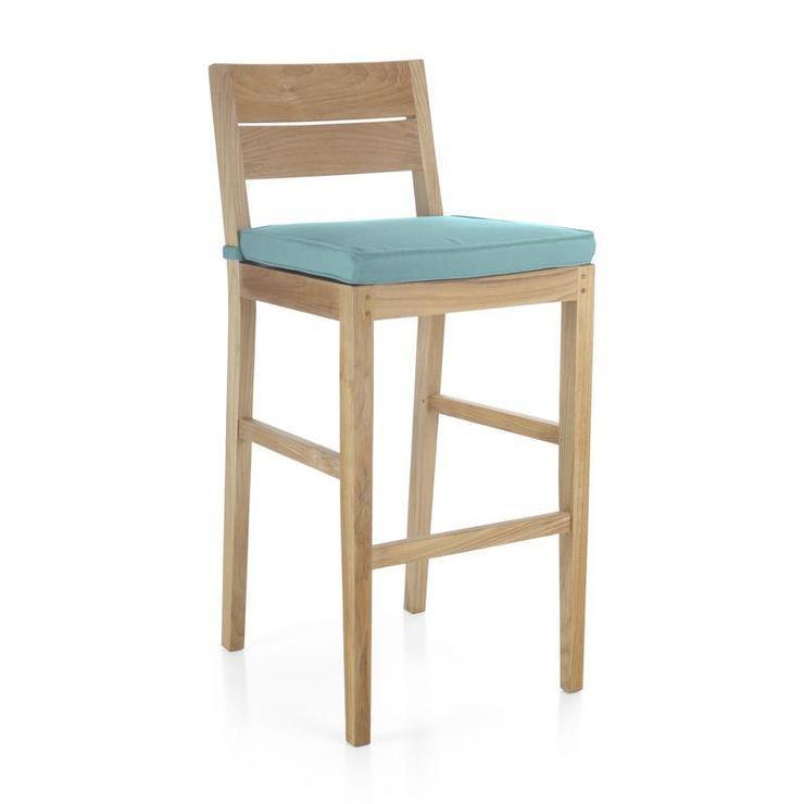 Blue Regatta Bar Stool with Sunbrella Cushion : cushion outdoor blue bar stool from www.decorpad.com size 740 x 740 jpeg 25kB