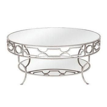 Silver Ava Mirrored Coffee Table