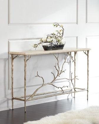 Very best Silver Ambella Eloise Branch Console DX74