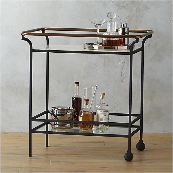 Black And Br Cavalier Bar Cart