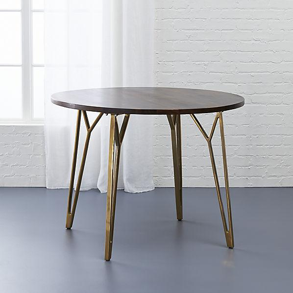 Brown And Brass Dial Dining Table