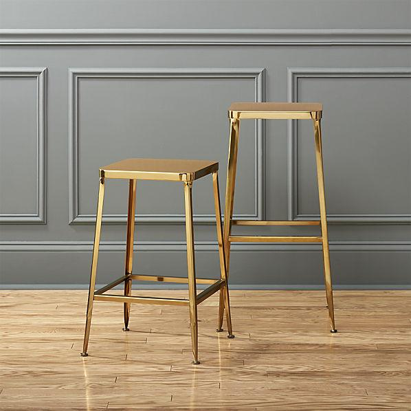 Flint Gold Bar Stools