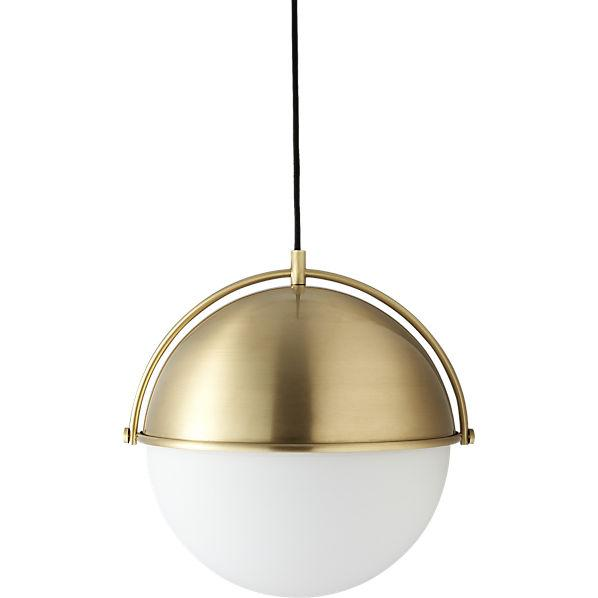 Brass globe pendant light for Mid century modern globe pendant light
