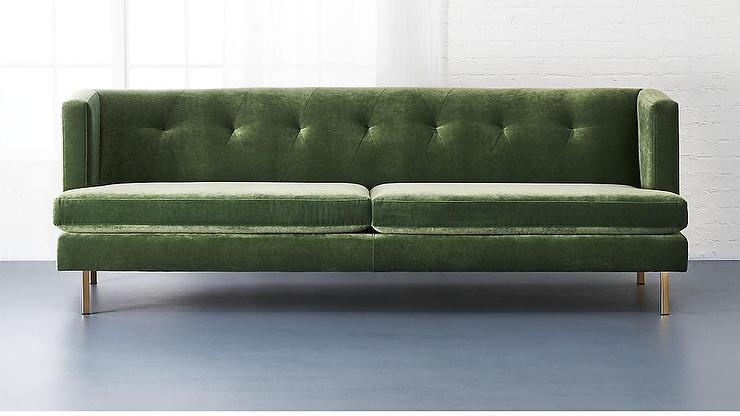 Green Vintage Sofa Chesterfield 2 Maxi Seater Sofa Two Large Cushions Thesofa