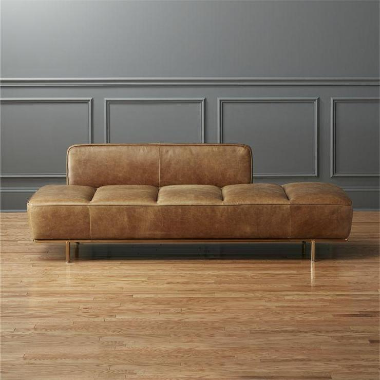Brown Lawndale Leather Daybed