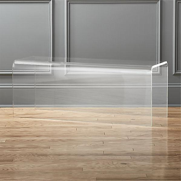 Clear Peekaboo Acrylic Bench