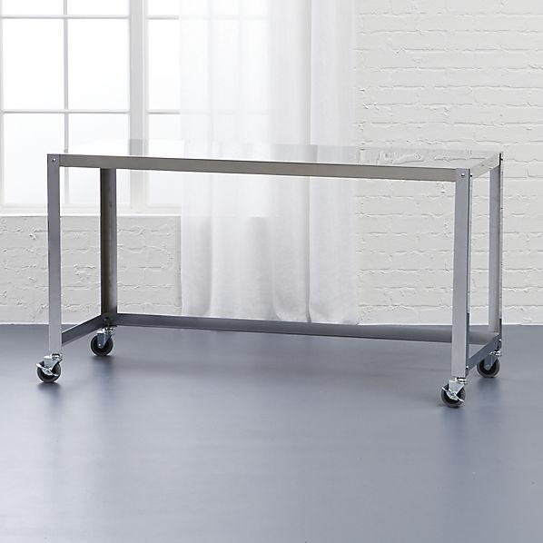 Flip And Fold Rolling Table Stainless Steel Wood: Go-cart Yellow Rolling Table