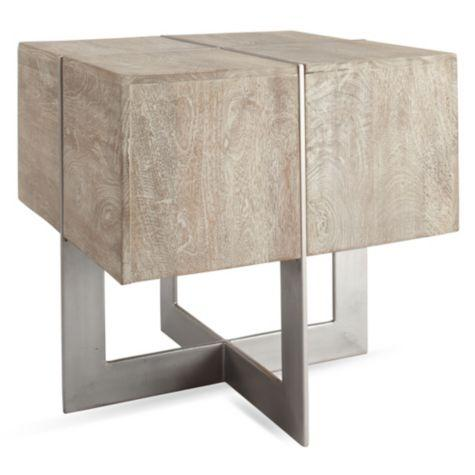white washed mango wood. Clifton White Washed Square End Table Mango Wood