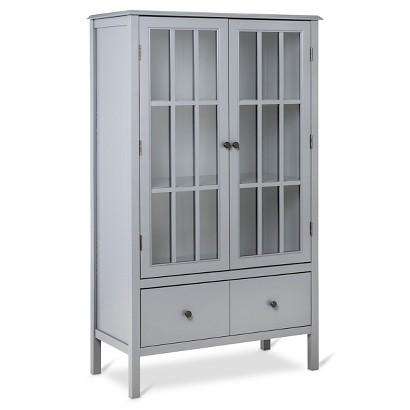 Windham Grey Tall Cabinet With Drawer