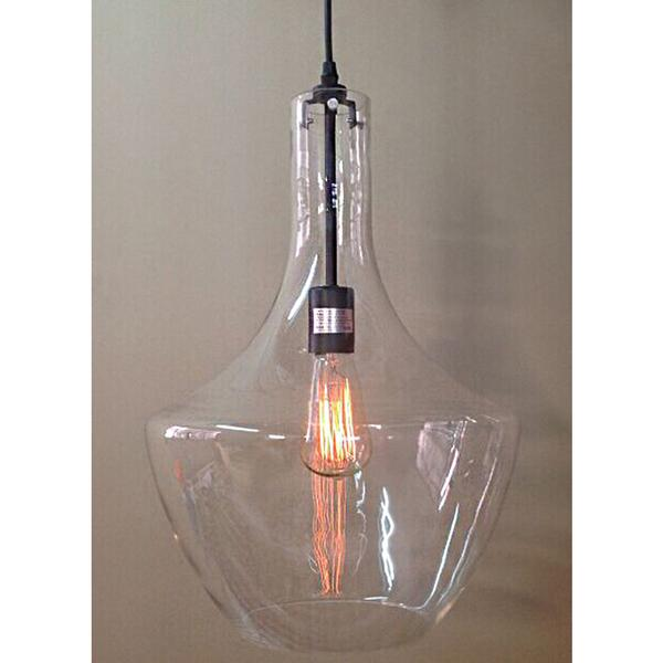 Love 1 Light Adjustable Cord Clear Glass Edison Pendant With