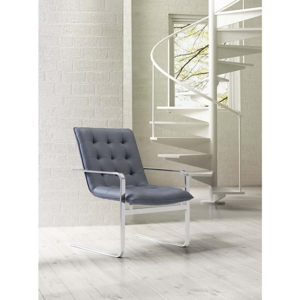 Melissa Tufted Blue Gray Accent Chair Overstock Com