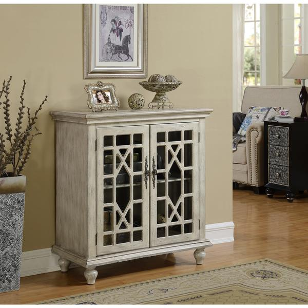 Somette White Wash Two Door Cabinet