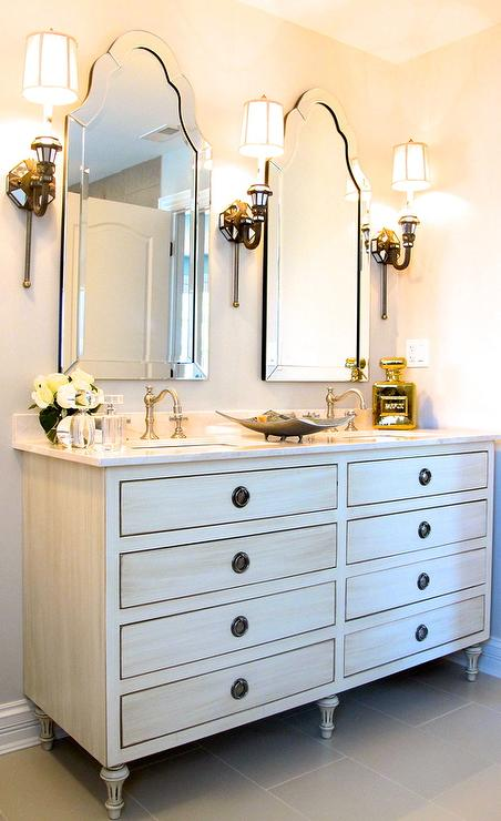 View full size  Chic bathroom features a Restoration Hardware  Restoration Hardware Maison Double Vanity Sink Design Ideas. Kent Bathroom Vanity Restoration Hardware. Home Design Ideas