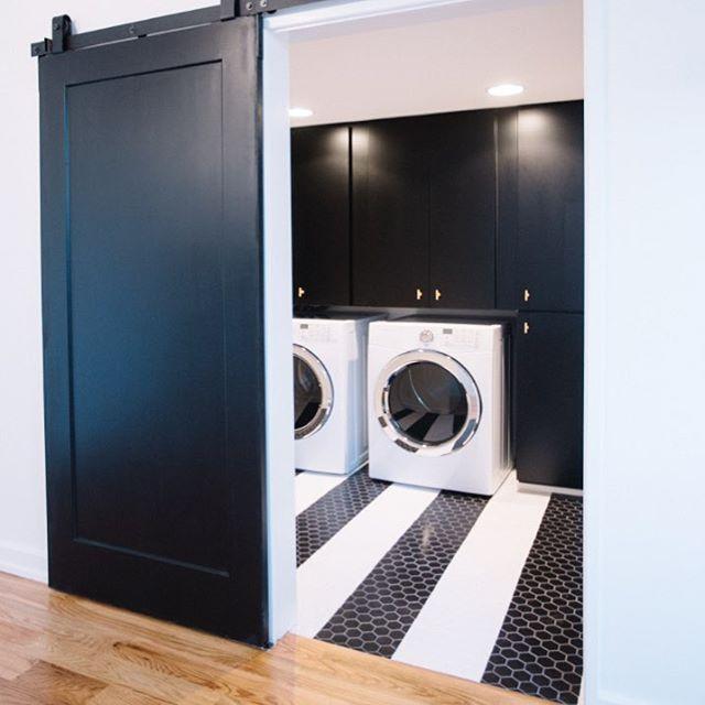 black door cottage laundry room wesley ellen design