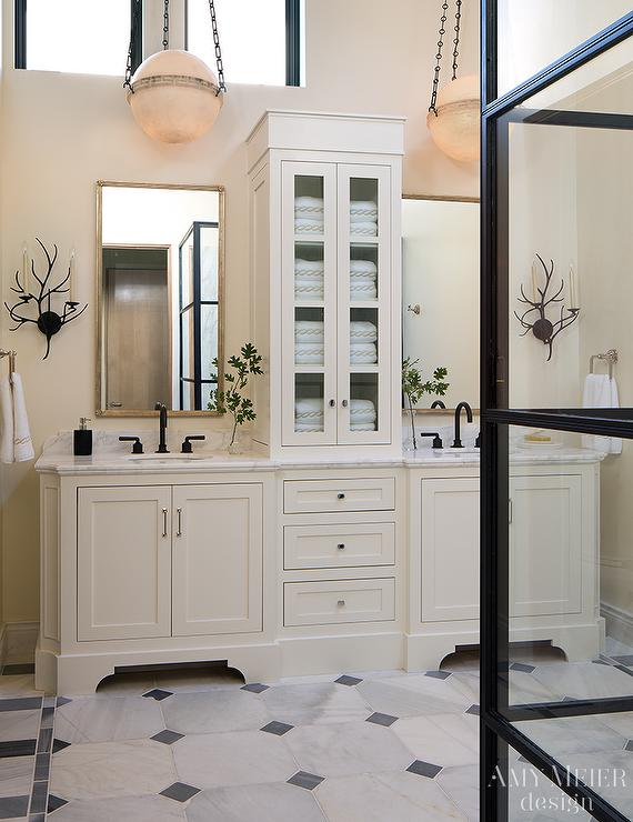 Ivory Bathroom with Oil Rubbed Bronze Fixtures - Transitional - Bathroom