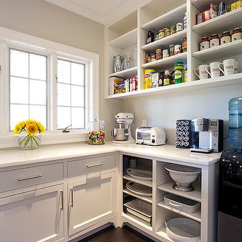 Charmant Kitchen Pantry With Open Shelving