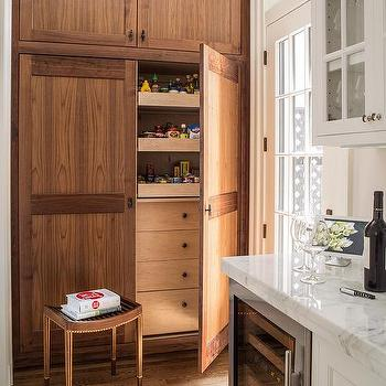 Oak Kitchen Pantry With Pull Out Shelves