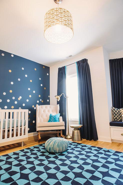 Navy Curtains Contemporary Nursery Pulp Design Studios