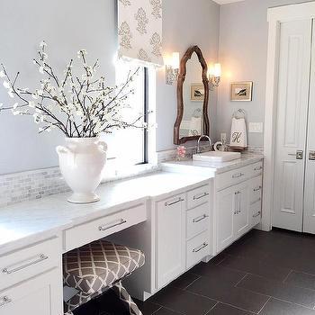 White Dove Bathroom Vanity Transitional Bathroom