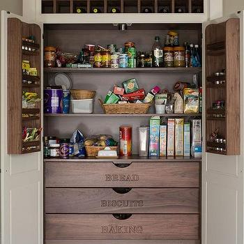 Kitchen Cabinet with Pocket Doors and Pull Out Small Appliances ...