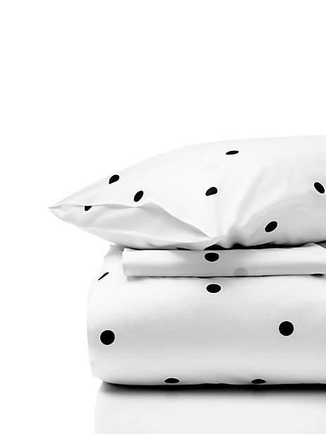 Black and White Deco Dot Comforter Set