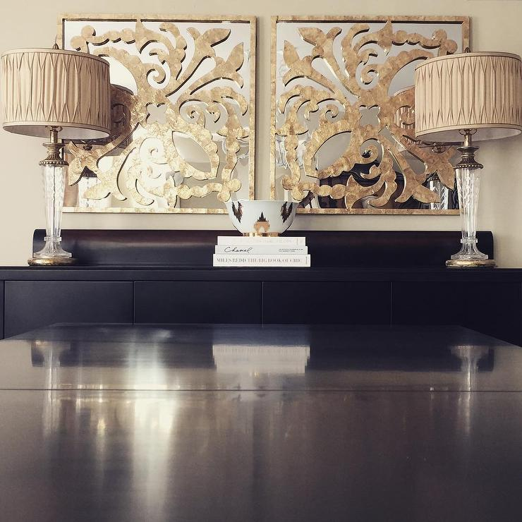View Full Size Gold And Black Dining Room