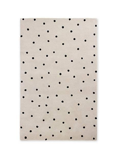 Black Polka Dot Rug Home Decor