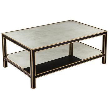 Black Granite Top Designer Coffee Table
