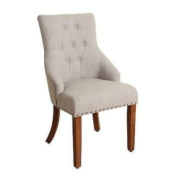 Beige Slope Arm Dining Chair