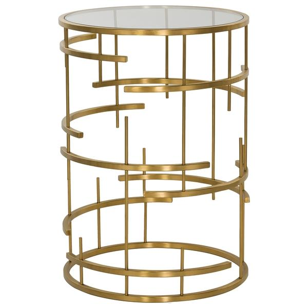 Safavieh Couture Collection Stellina Gold Plated Brushed Stainless Steel End  Table
