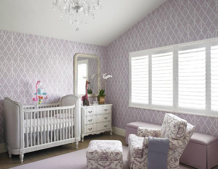 white and purple nursery dresser design ideas. Black Bedroom Furniture Sets. Home Design Ideas