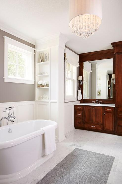 Bathroom Cabinets Floor To Ceiling cherry bathroom cabinets design ideas