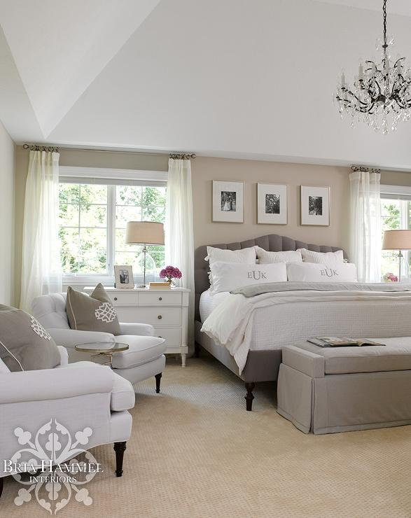 Master Bedroom with Headboard Nook Accented with Custom ...