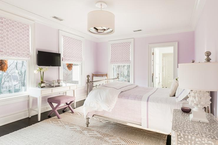 Pink bedroom loveseat contemporary bedroom for Black and white girls bedroom ideas
