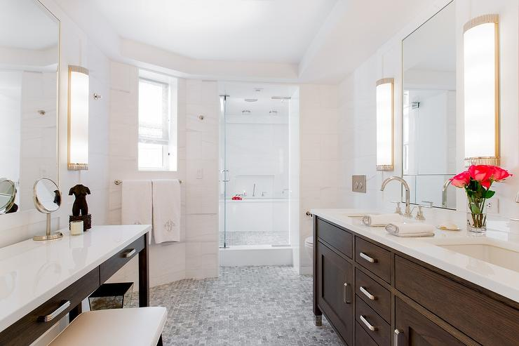 cabinet sinks made foremost custom wall vanity sink bathroom walnut hawthorne modern dark