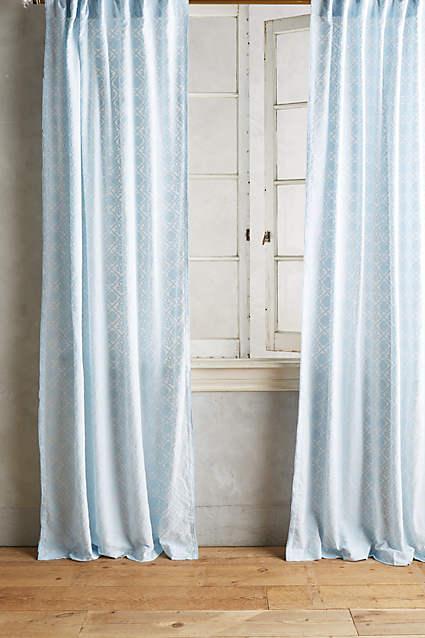 Sky Blue Quadrille Curtain