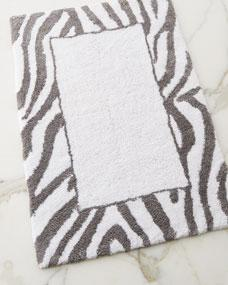 Avanti Linens Pundamilia Grey And White Bath Rug