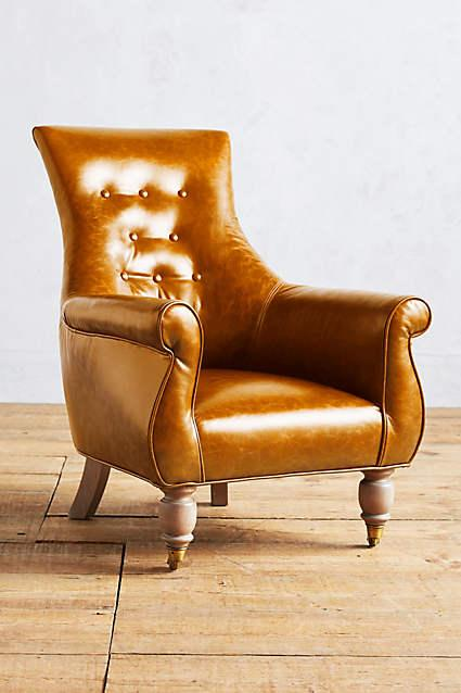 Leather Astrid Honey Chair