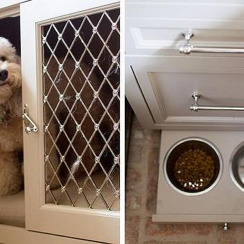 Kitchen With Pull Out Pet Food Bowls