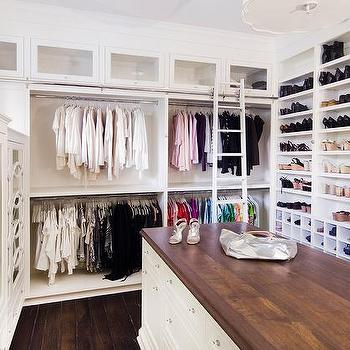 Long Closet Island With Butcher Block Top