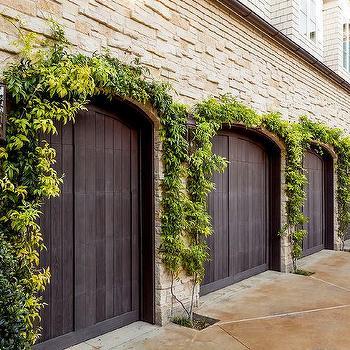 Gray Paneled Garage Door Design Ideas