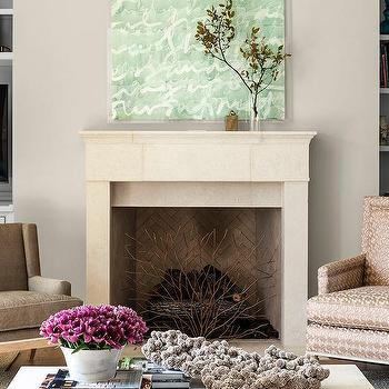 Mismatched Fireplace Chairs