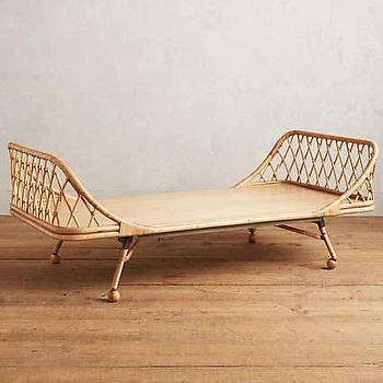 Brown Sleigh Inspired Rattan Day Bed