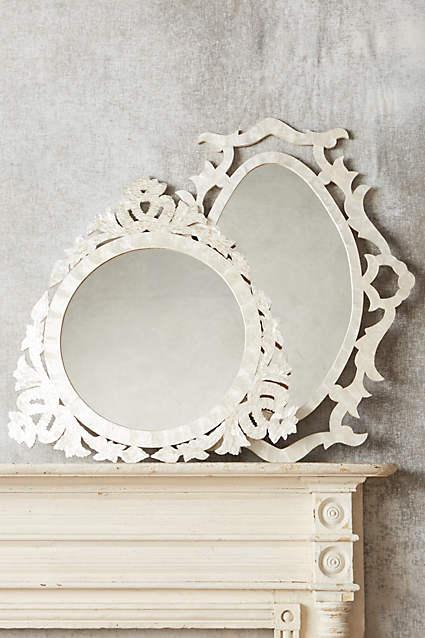 Inlaid Mother Of Pearl Flower Mirror Decorative Mirror