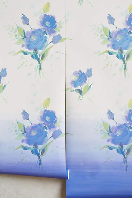 Bygone blue violet flower wallpaper mightylinksfo