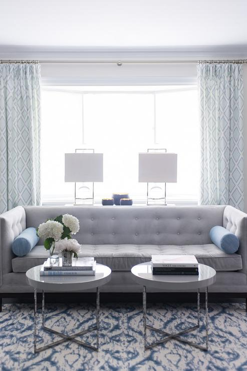 Blue gray sofa gray sofa with chaise lounge and blue for Blue grey couch
