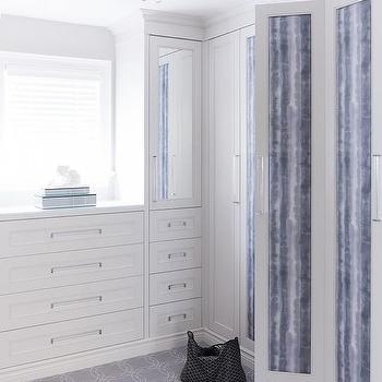 Walk In Closet With Built In Dresser Under Window