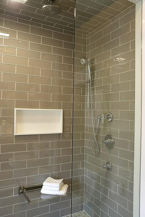 Fold Down Shower Bench - Transitional - Bathroom