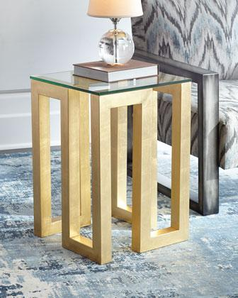 Exceptional Selena Glass And Gold Square Side Table Good Looking