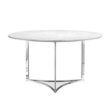 Rose Gold Base Marble Top Dining Table